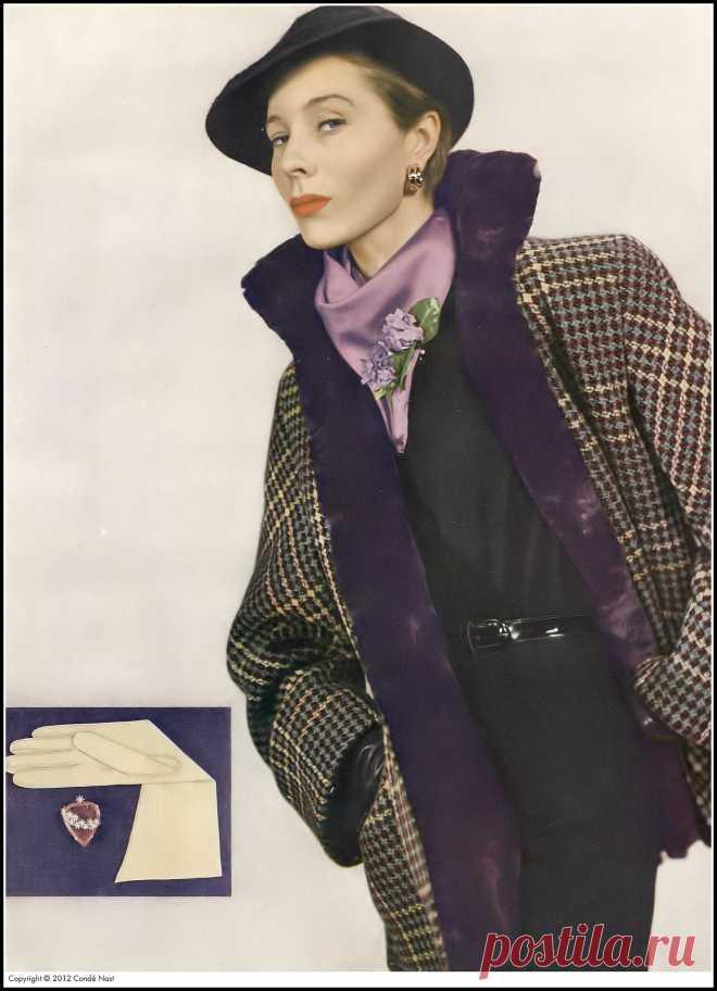 Bettina, photo by Serge Balkin, Vogue, August 1, 1950