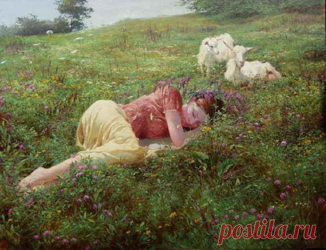 Когда появились первые кровати, почему наши предки спали дважды за ночь, а Петр I – сидя в шкафу. Сон в живописи.