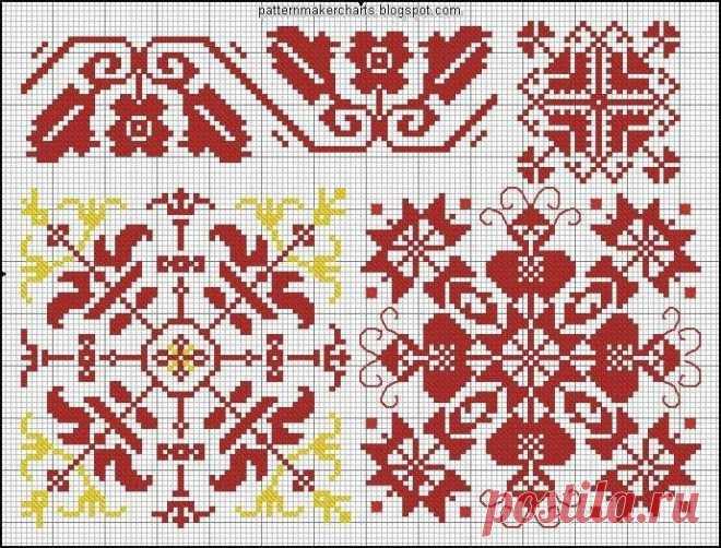 Орнаменты для вышивки в народном стиле