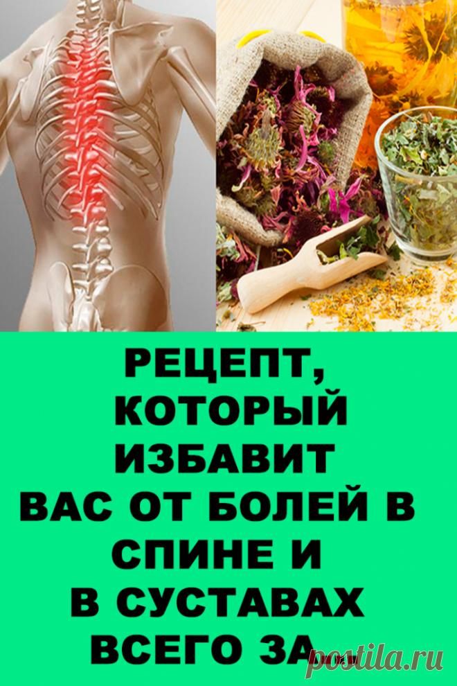 Рецепт, который избавит вас от болей в спине и в суставах всего за… — Женские Советы