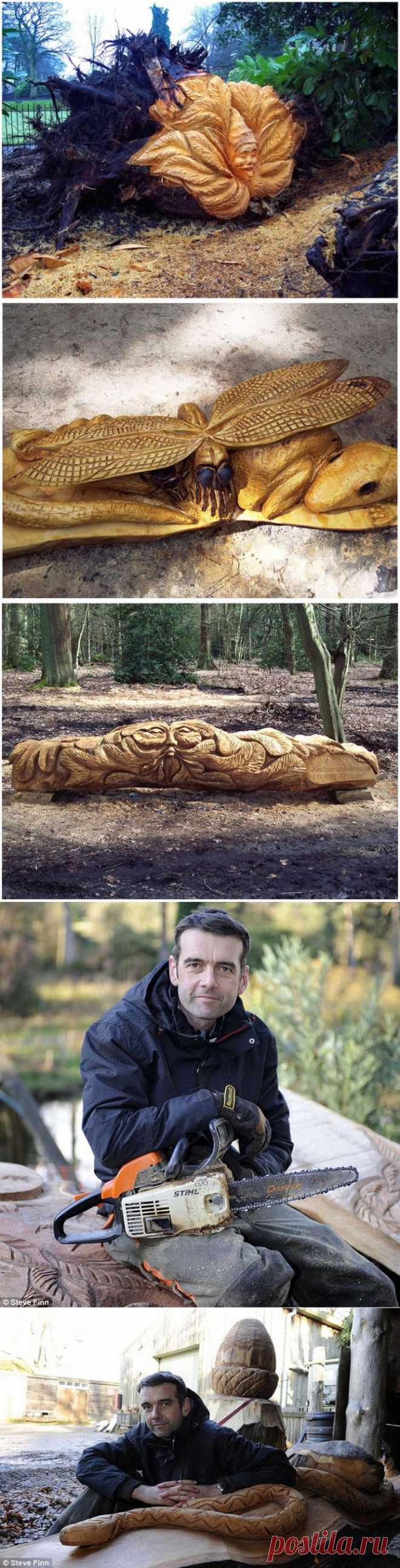 (+1) тема - Что можно сделать из дерева при помощи одной только бензопилы | МАСТЕРА