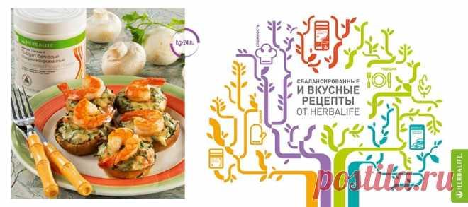 Фаршированные грибы   Herbal отзывы Рецепты Гербалайф