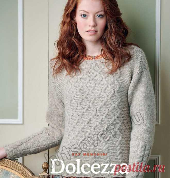 вязание пуловера модные модели со схемами и описаниями страница 5