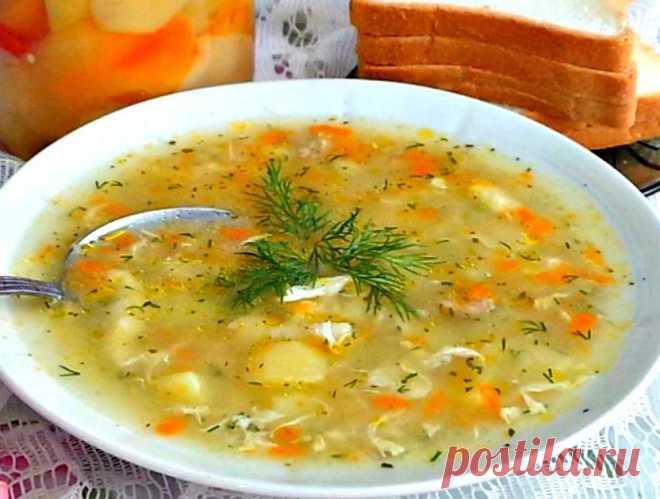 Как у бабушки в деревне - Суп-затируха. Просто и очень вкусно! Прямо как в детстве!