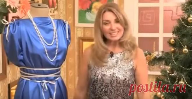 Как сшить праздничное платье за 10 минут Неожиданно пригласили на праздник, а нового платья нет? Не отчаивайтесь!