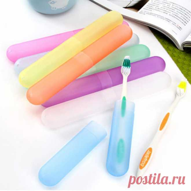 14.8руб. 43% СКИДКА|Новинка, 1 шт. коробка для хранения, органайзер, пластиковый чехол для зубных щеток, портативная коробка для путешествий, прогулок, кемпинга, коробка для зубных щеток случайного цвета|Наборы аксессуаров для ванной|   | АлиЭкспресс Покупай умнее, живи веселее! Aliexpress.com