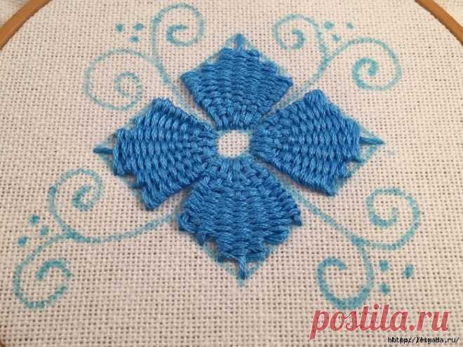 Красивая вышивка, сделанная переплетением нитей — Сделай сам, идеи для творчества - DIY Ideas