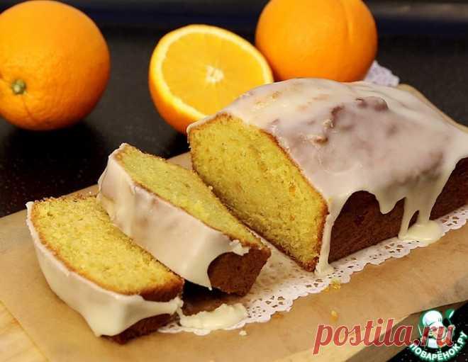 Апельсиновый кекс с глазурью – кулинарный рецепт