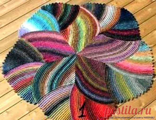коврик крючком из остатков пряжи вязание для дома журнал