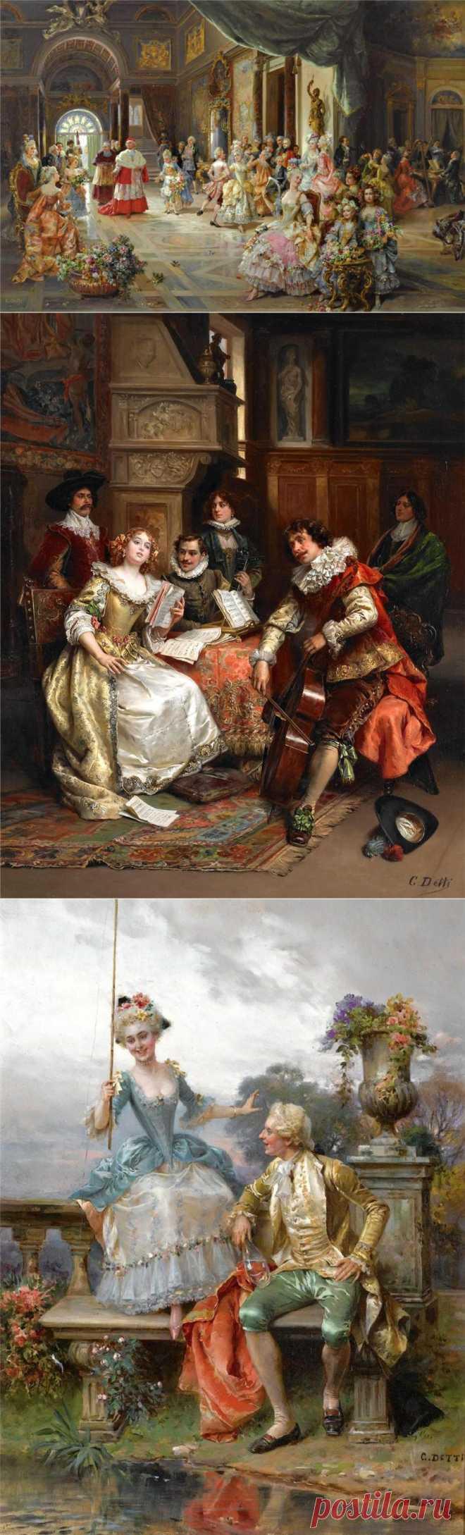 Итальянский художник Cesare Auguste Detti..