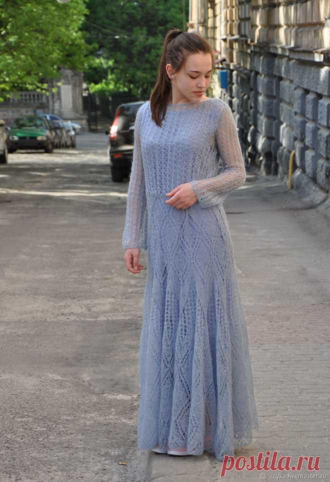Мохеровое платье вязаное из итальянского кид-мохера – купить в интернет- магазине на Ярмарке 71398a7447b