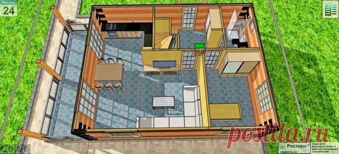 Проект деревянного дома Д-157 для ипотеки и мат.капитала - Ростерн