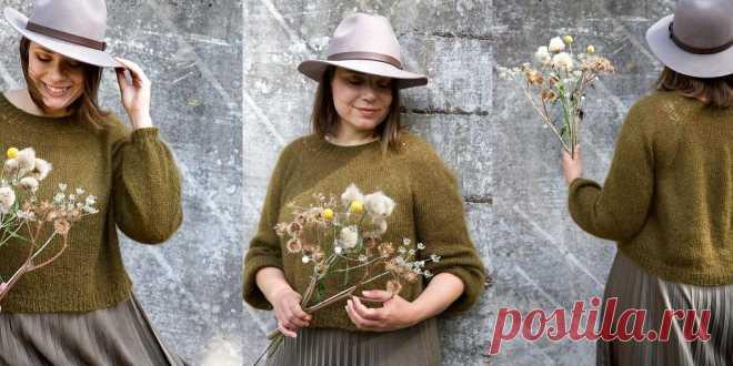 Свободный пуловер из мохера Ilta - Вяжи.ру