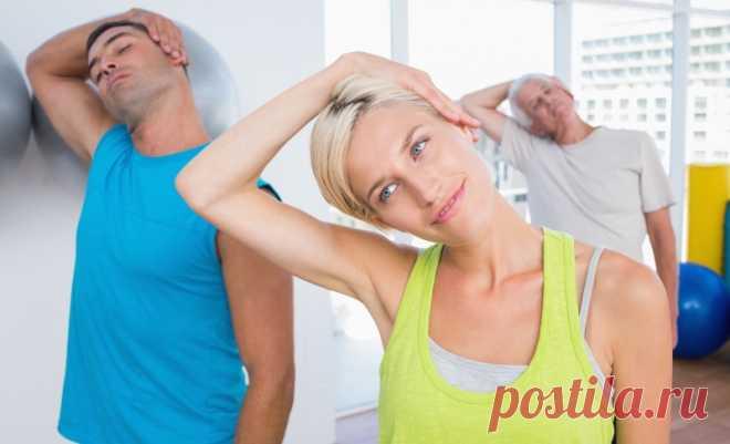 6 минутных упражнений для здоровья шеи. Шейный остеохондроз тихо уйдет… - Советы и Рецепты Шейный остеохондроз — заболевание, от которого всё чаще страдают даже молодые люди. Слабая физическая активность, неправильное питание, отложение солей, плохой обмен веществ, частые посиделки за компьютером или в кресле автомобиля — это только малая часть причин, провоцирующих появление болезни. Конечно, за всем уследить невозможно, и мы обращаем внимание на свою многострадальную шею...