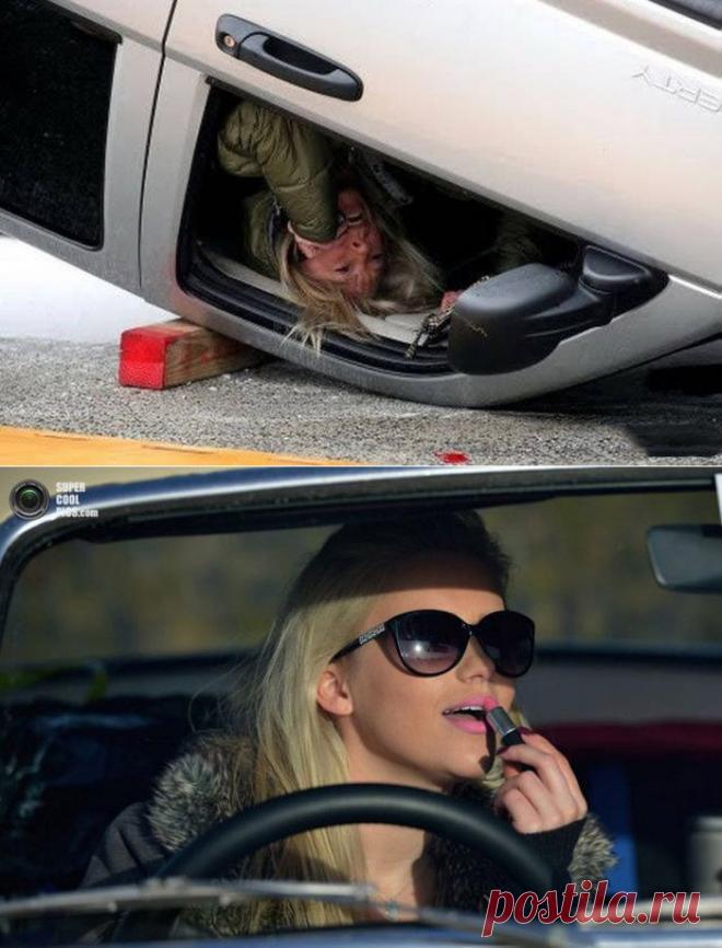 Смешные картинки бабы за рулем, февраля аппликации открытки