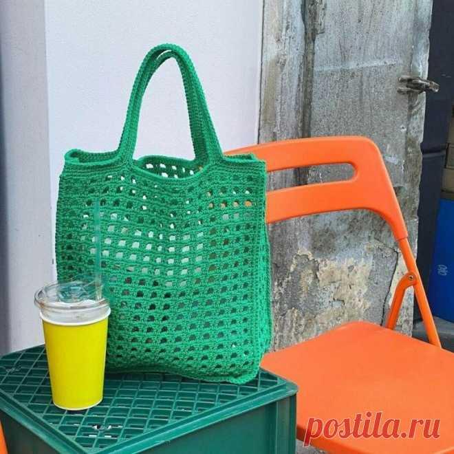 Ажурная летняя сумочка. Крючком. Схемы. / knittingideas.ru