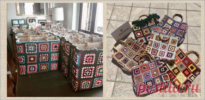 Рассказ о том, как сумки из бабушкиного квадрата, связанные в Милане, работают на благотворительность   МНЕ ИНТЕРЕСНО   Яндекс Дзен