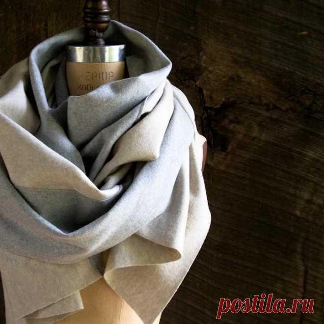 Двухцветный шерстяной шарф с узором из треугольников: мастер-класс — Мастер-классы на BurdaStyle.ru