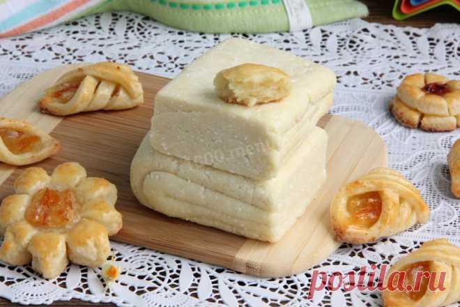 Творожное слоеное тесто рецепт с фото пошагово - 1000.menu