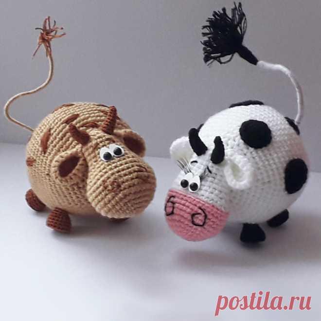 PDF Бычок Гаврюша крючком. FREE crochet pattern; Аmigurumi doll patterns. Амигуруми схемы и описания на русском. Вязаные игрушки и поделки своими руками #amimore - корова, коровка, телёнок, бык, маленький бычок.