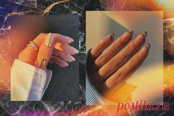 Маникюр с полосками 2021: крутые идеи модного дизайна ногтей | Beauty HUB | Яндекс Дзен