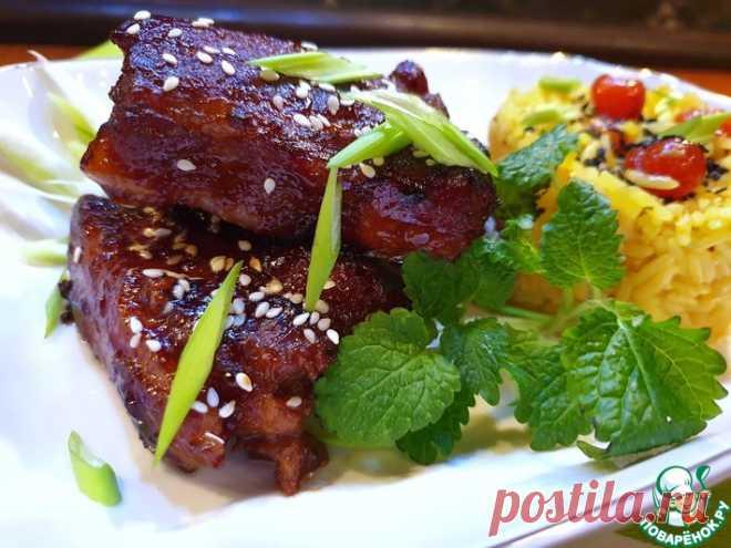 Липкие свиные ребра по-пекински Кулинарный рецепт