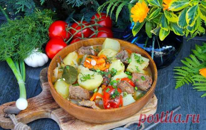 Говядина с картошкой в казане на костре рецепт с фото пошагово - 1000.menu