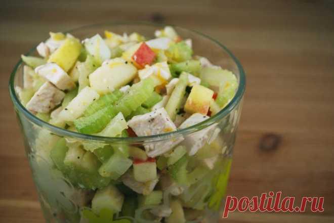 Салат с сельдереем, и курицей, и яблоками: рецепт приготовления. Как приготовить вкусный салат с сельдереем?