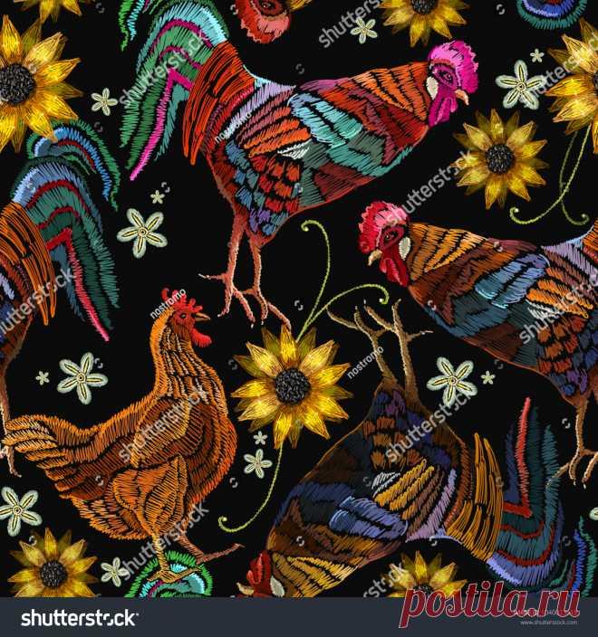 Bird Embroidery: imágenes, fotos de stock y vectores   Shutterstock