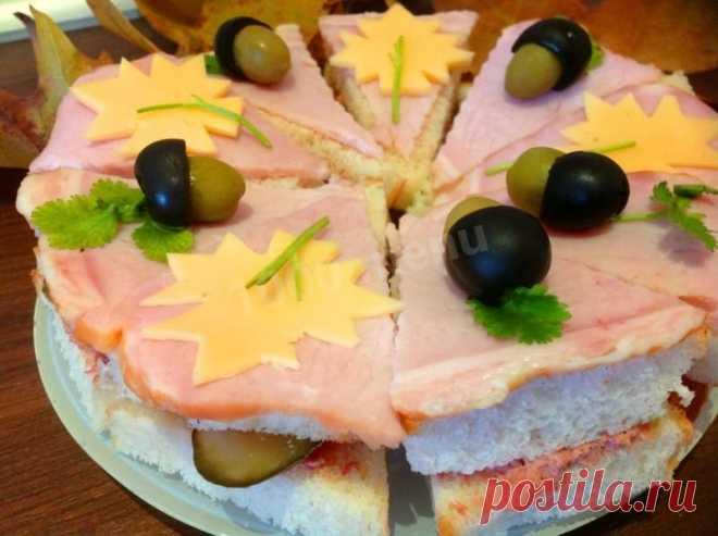 Бутербродный торт рецепт с фото пошагово - 1000.menu