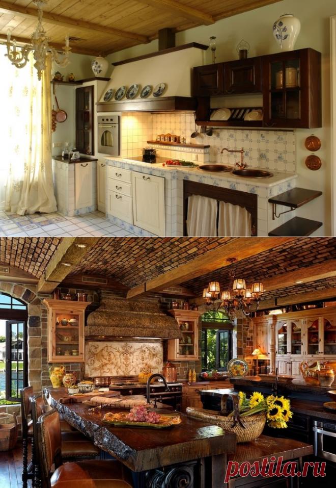 Кухни под старину: дизайн и материалы