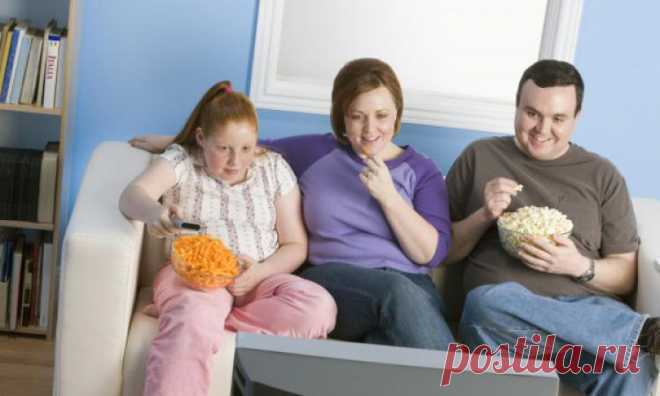 Еда перед телевизором вызывает ожирение, доказали ученые