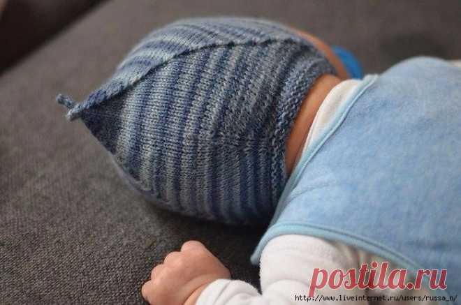 детский чепчик спицами по норвежски Norwegian Sweet Baby Cap By Gro