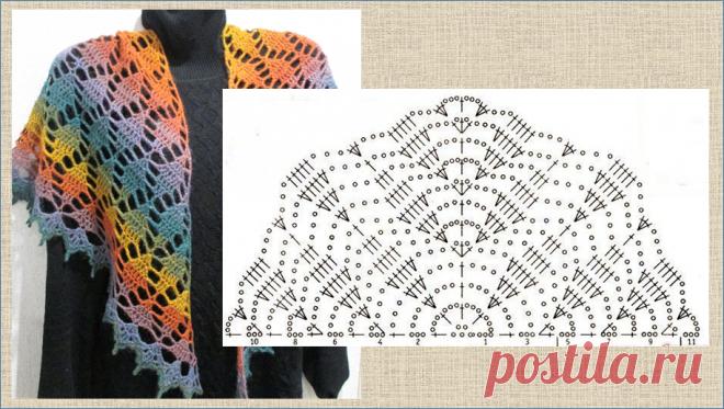 10 ярких и красочных шалей и накидок со схемами - для того, чтобы подчеркнуть краски осени | МНЕ ИНТЕРЕСНО | Яндекс Дзен