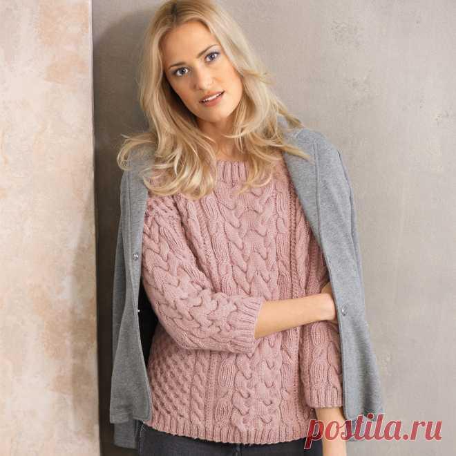 Пуловер спицами для женщин со схемами и описанием: 12 моделей