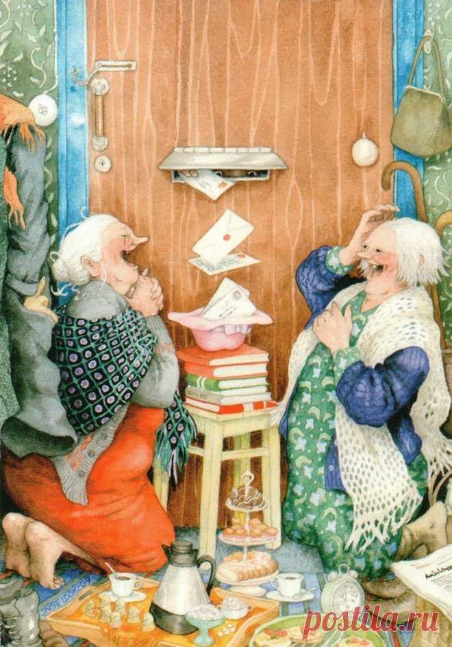 Открытки со старушками веселушками, доброте для детей