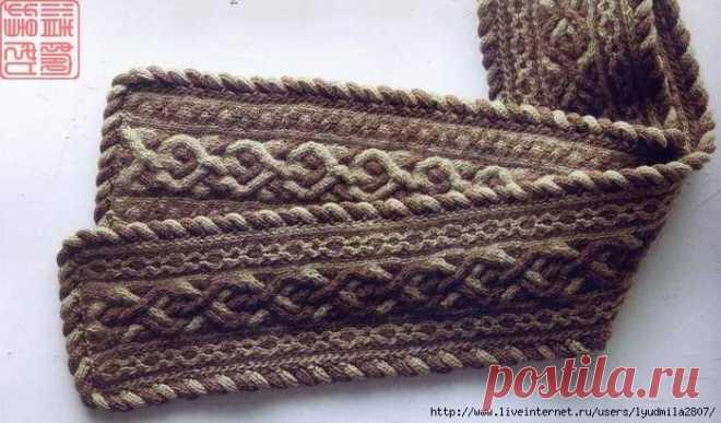 Арановый шарф с боковым жгутом по краям