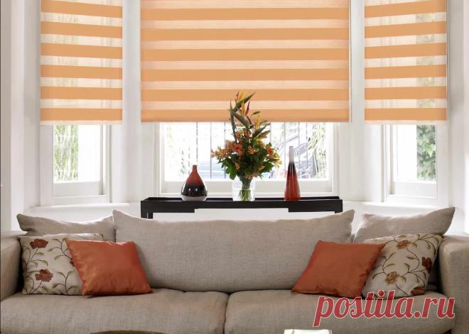 10 решений для интерьера с оранжевыми рулонными шторами