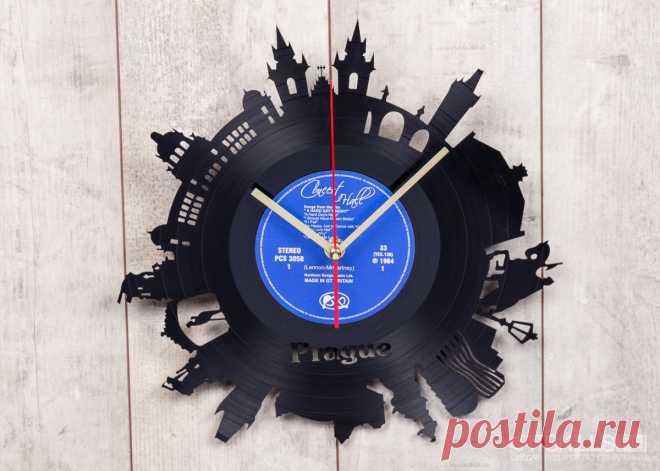 Часы из виниловой пластинки «Прага» купить подарок в ArtSkills: фото, цена, отзывы