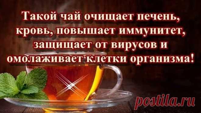 Такой чай очищает печень, кровь, повышает иммунитет, защищает от вирусов и омолаживает клетки...