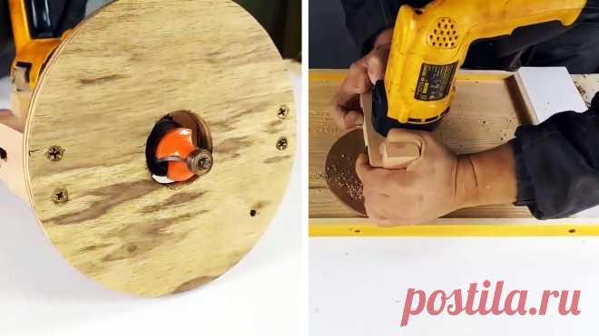 Как сделать съемное приспособление которое превратит вашу дрель в фрезер Для обработки кромок деревянных заготовок или врезки различной мебельной фурнитуры необходим фрезер. Покупать его тем, кто пользуется этим инструментом изредка, нет смысла. Для любителей лучше подойдет самодельный фрезер. Это несложная в изготовлении приставка под обычную дрель. С ее помощью можно