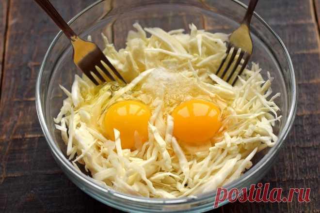 Ужин из капусты и яиц