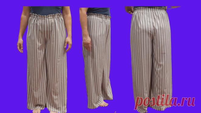 Выкройка брюк палаццо | Мир модной одежды | Яндекс Дзен