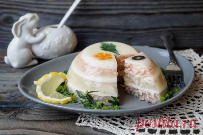 Красивое и вкусное заливное из трех видов рыб — Фактор Вкуса