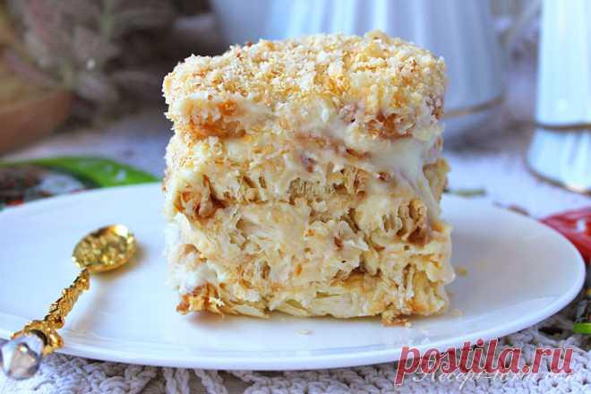 Рецепт для занятых хозяек: быстрый десерт «Ленивый Наполеон». На вкус просто потрясающий - Скатерть-Самобранка - медиаплатформа МирТесен