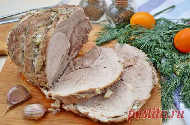 Свинина запеченная в фольге в мультиварке рецепт с фото пошагово - 1000.menu