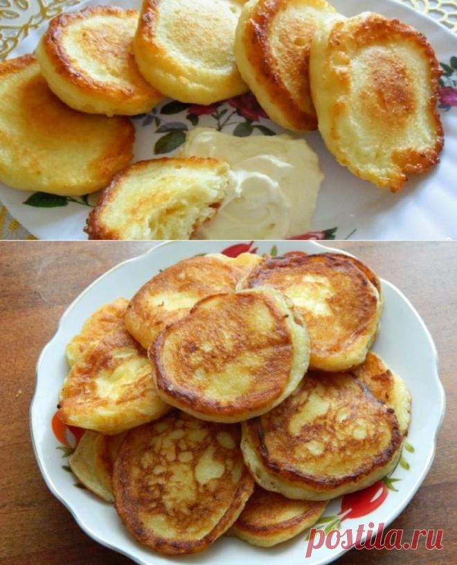 Творожные оладьи — вкуснейший и полезный завтрак