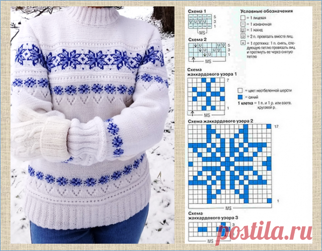 20 белых кофточек с прекрасными жаккардовыми узорами - модели плюс схемы - вязание спицами | МНЕ ИНТЕРЕСНО | Яндекс Дзен