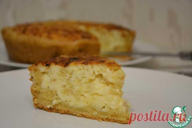 Открытый пирог из плавленых сырков Кулинарный рецепт