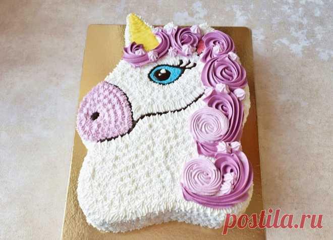 Торт Единорог для девочки без мастики рецепт с фото пошагово и видео - 1000.menu